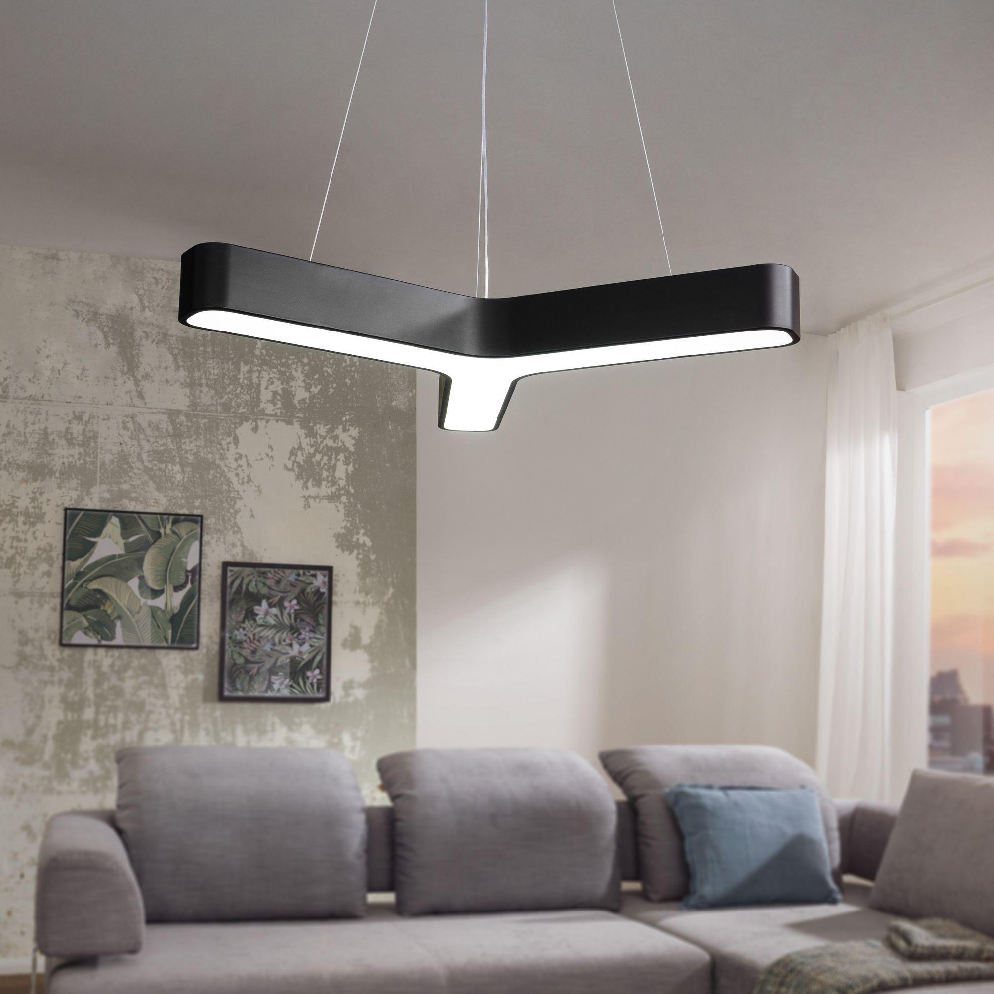 LED závěsné svítidlo Y-form, 107 cm, černá