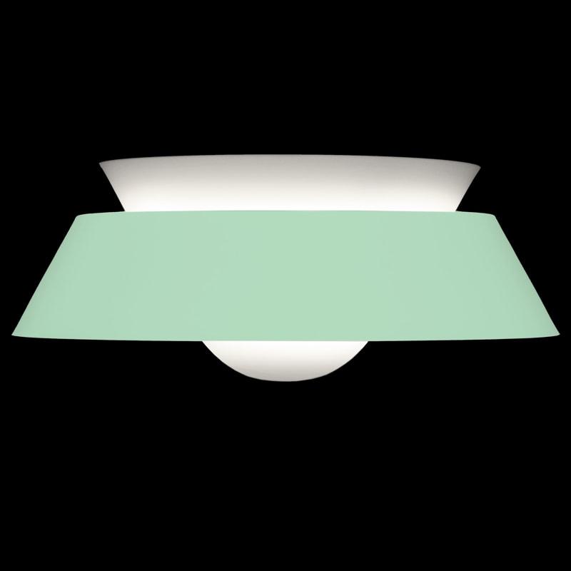 Luster retro Cuna, oceľ / akryl, biela