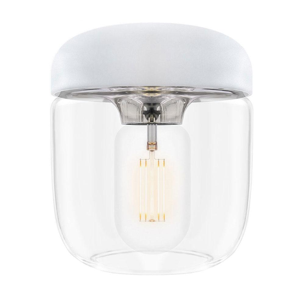 Svítidlo / lustr závěsný VITA Acorn bílý, nerez