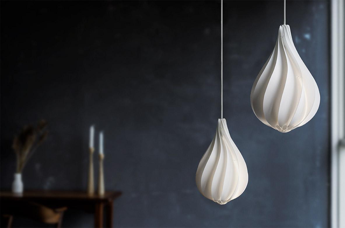 Svítidlo / lustr závěsný VITA Alva mini, bílá