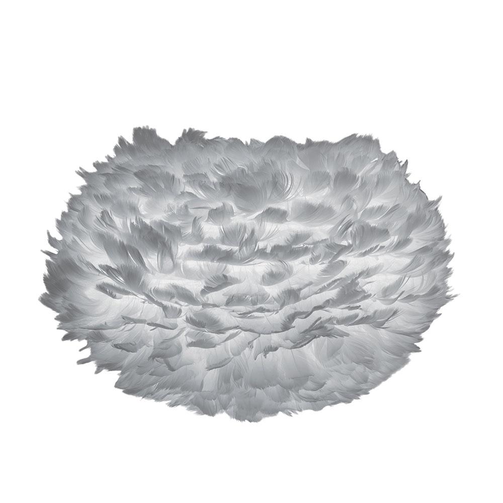 Svítidlo / lustr závěsný z husího peří VITA Eos, šedá