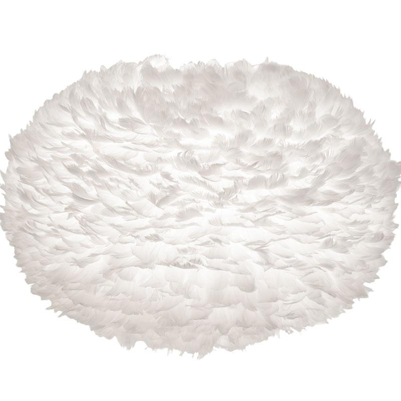 Svítidlo / lustr závěsný z husího peří VITA Eos velký, bílá