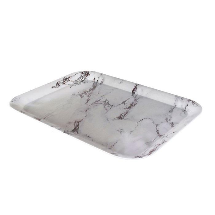 Melaminový podnos Marble, 39 cm