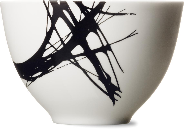 Mísa střední, 13 cm, černý abstrakt