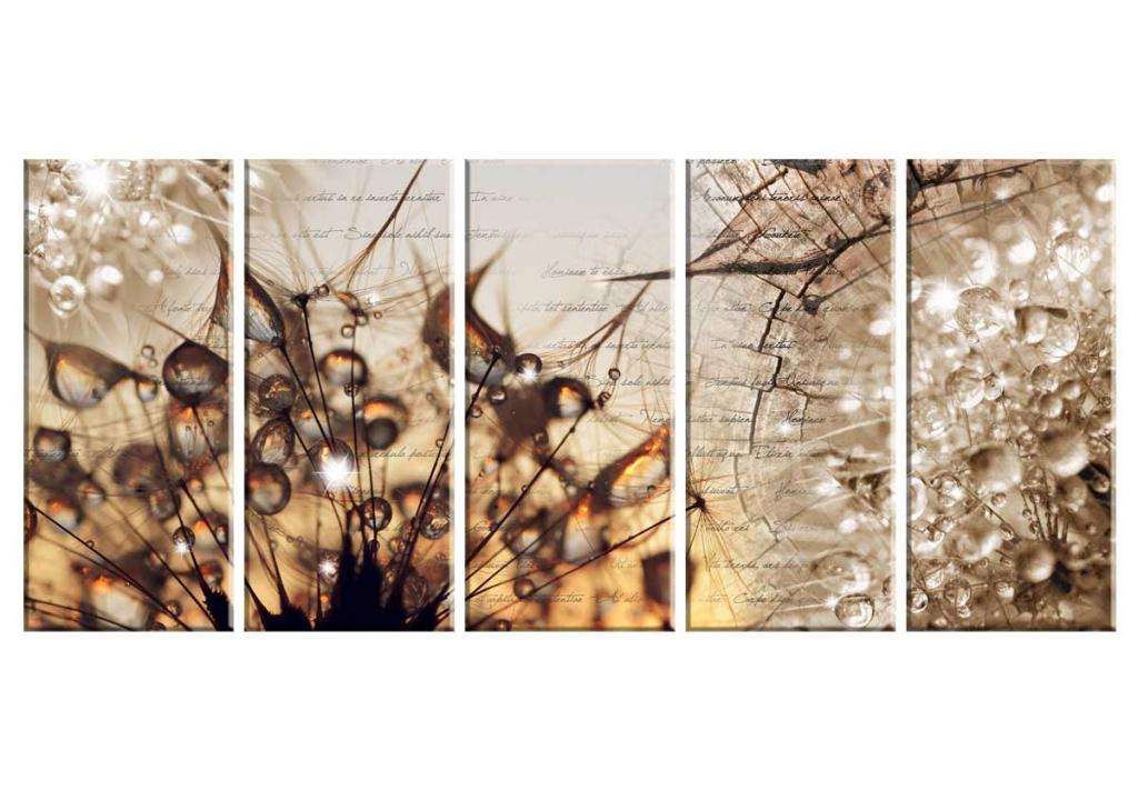 Moderní obraz Jantarová příroda, 100x50 cm
