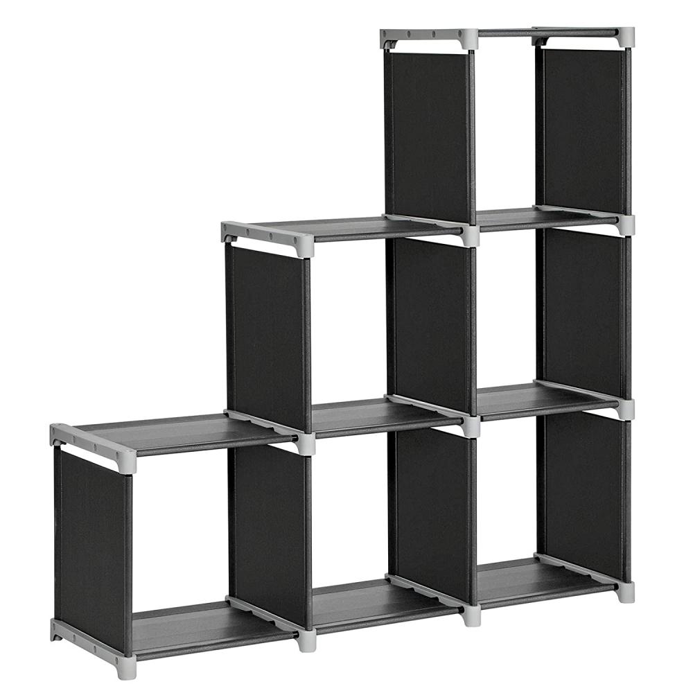 Multifunkční skříň Momés, 105 cm, černá / šedá