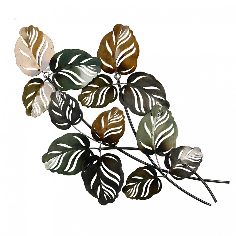 Nástěnná dekorace Branch, 67 cm, zelená / zlatá