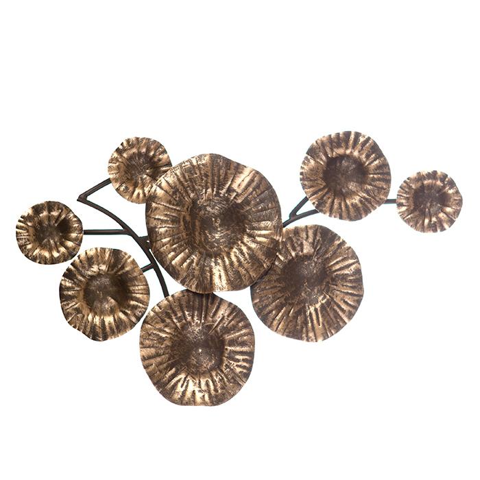 Nástěnná dekorace Flow, 52 cm, tmavě hnědá