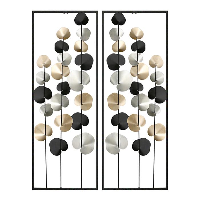 Nástěnná dekorace Fuines, 84 cm, černá