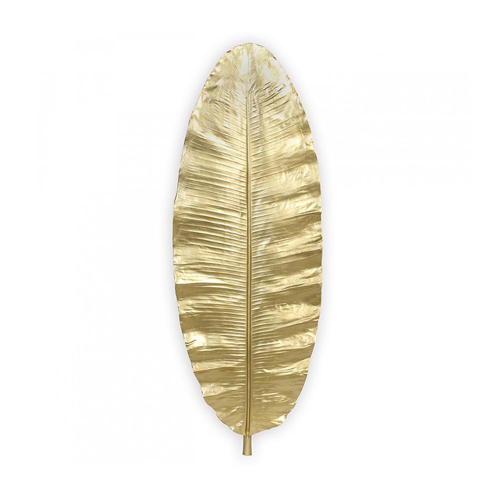 Nástěnná dekorace Golden leaf, 95 cm