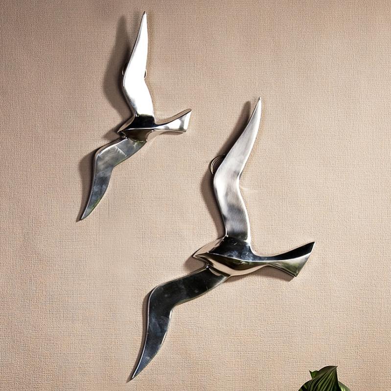 Nástěnná dekorace hliníková Flying bird, 34 cm