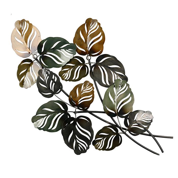Nástěnná dekorace Kien, 67 cm, zelená / hnědá