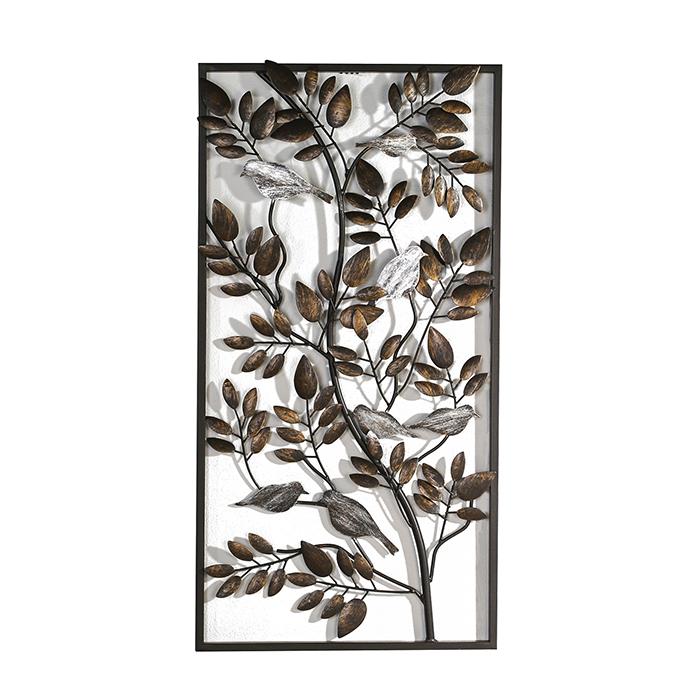 Nástěnná dekorace kovová Birds, 72 cm