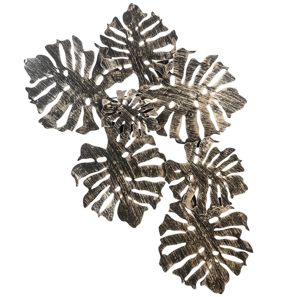 Nástěnná dekorace kovová Flora, 110 cm