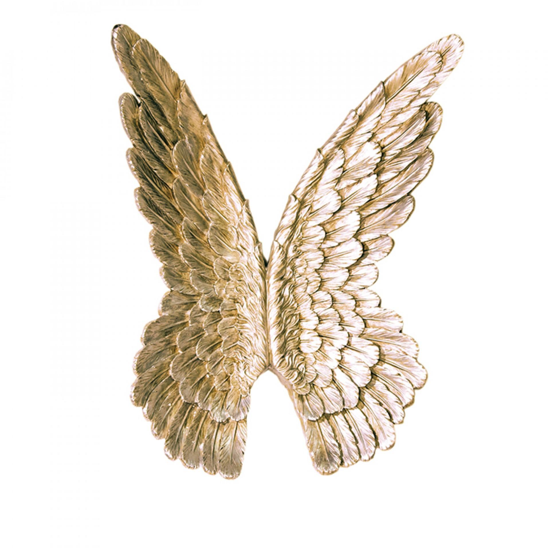 Nástěnná dekorace Křídla, 94 cm, zlatá