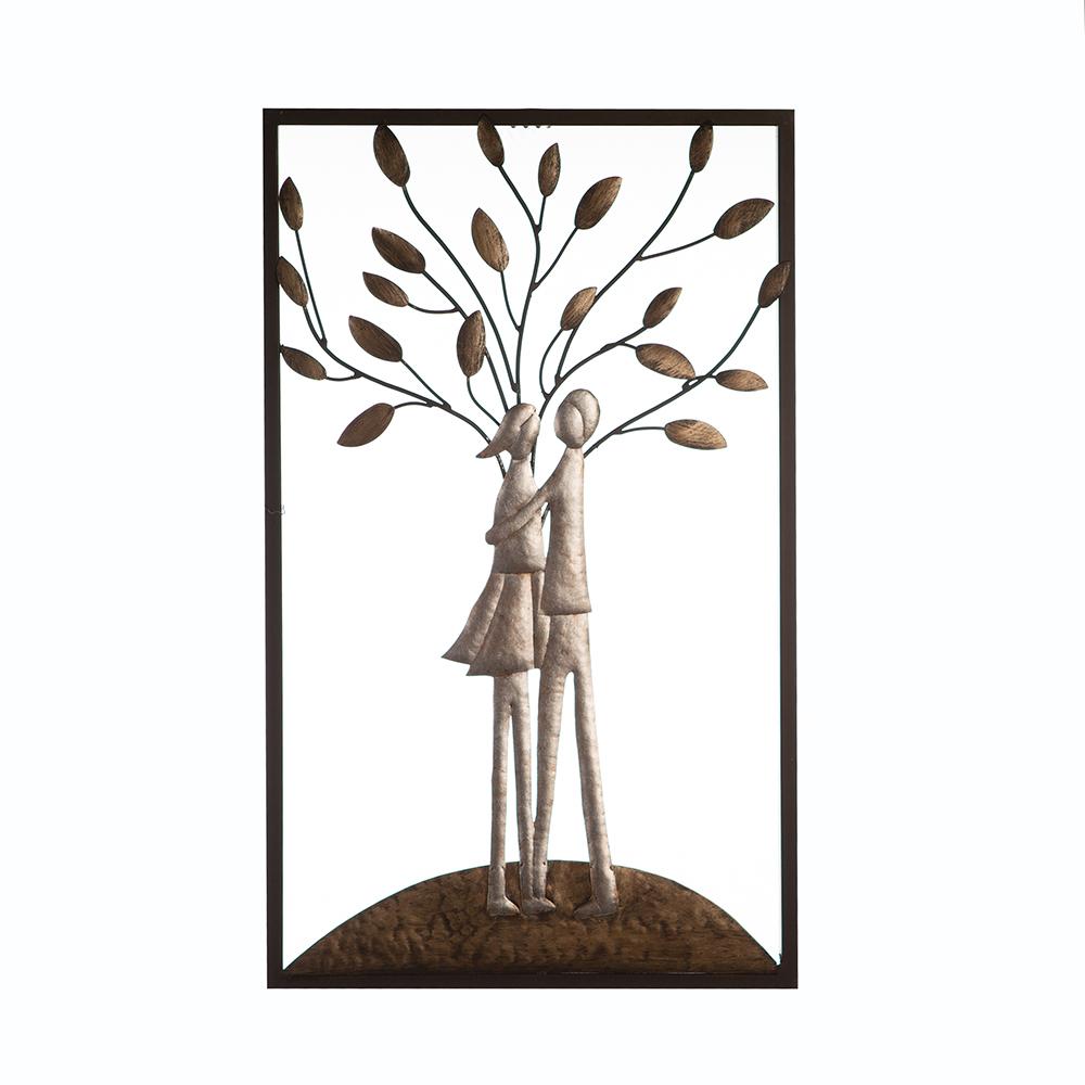 Nástěnná dekorace Love, 50 cm, stříbrná