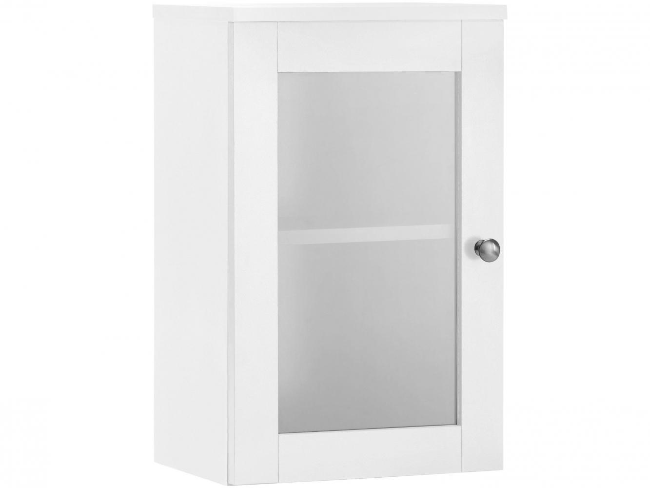 Nástěnná koupelnová skříňka Kiley, 50 cm, bílá