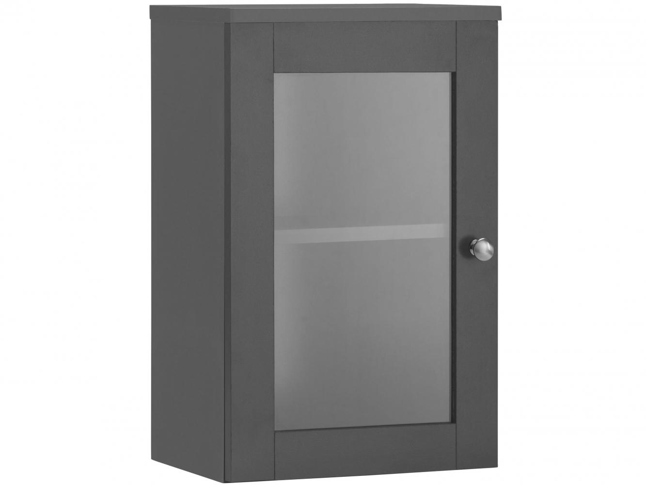 Nástěnná koupelnová skříňka Kiley, 50 cm, šedá