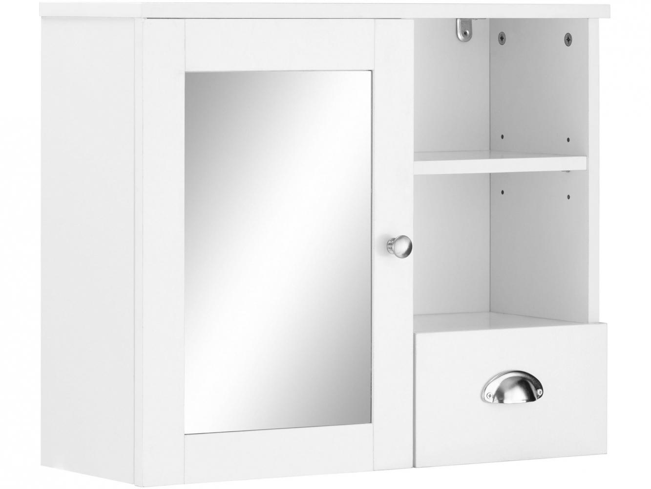 Nástěnná koupelnová skříňka Kiley, 65 cm, bílá