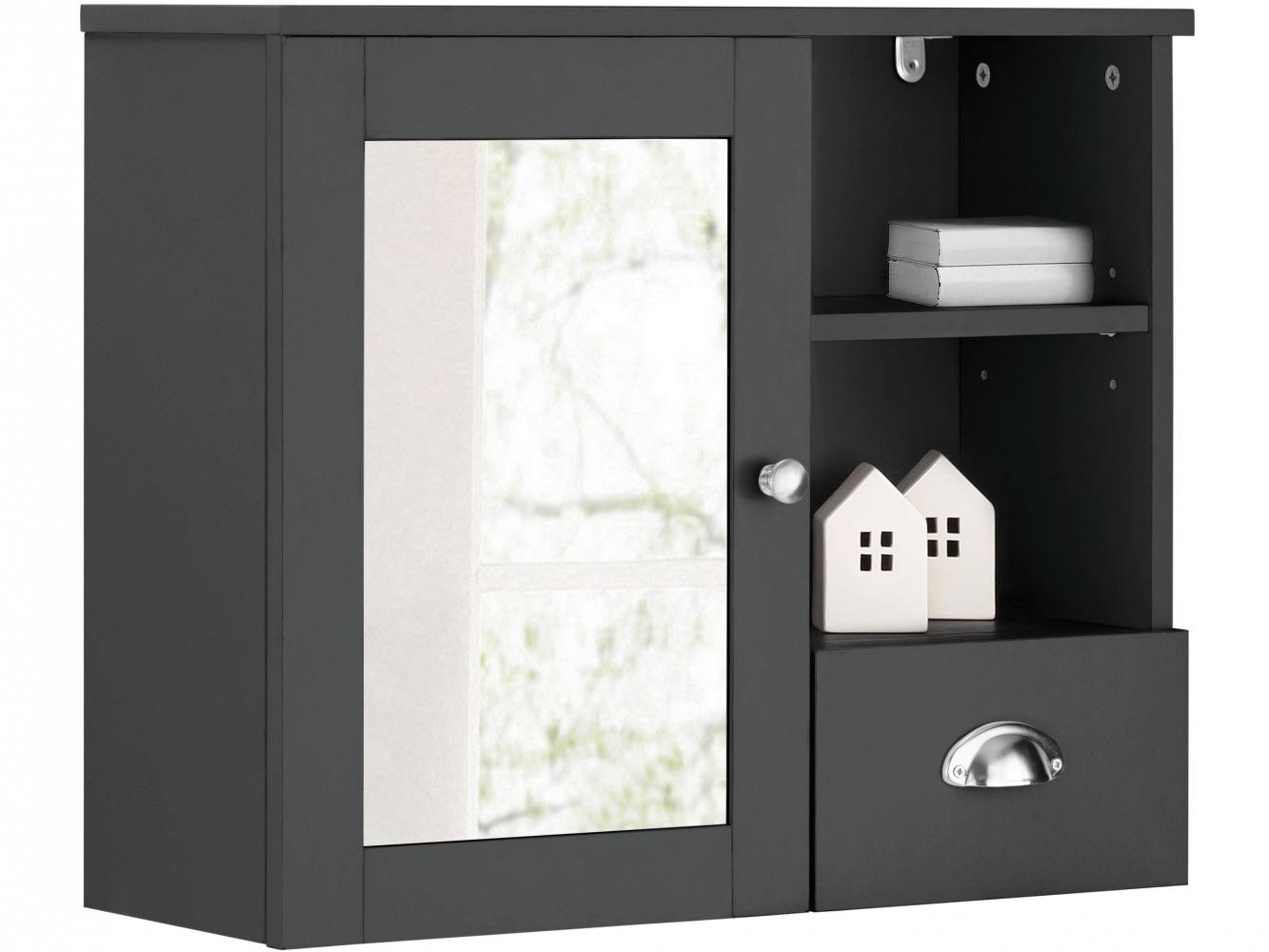 Nástěnná koupelnová skříňka Kiley, 65 cm, šedá