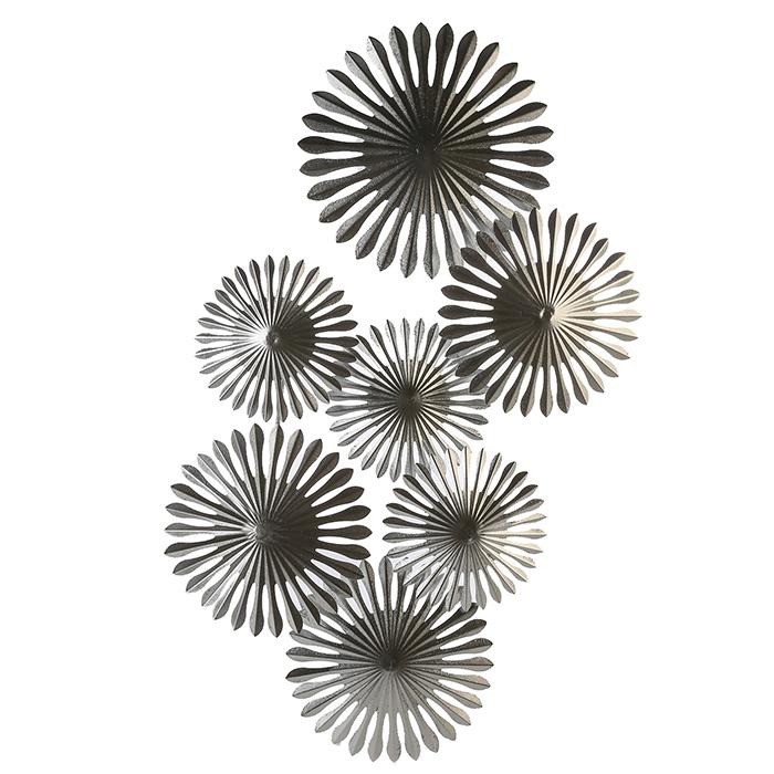 Nástěnná kovová dekorace Dandelion, 85 cm