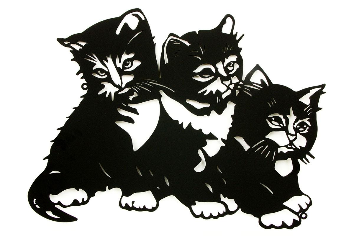 Nástěnná kovová dekorace Kitty, 50 cm
