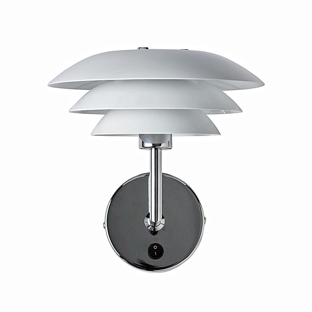 Nástěnná lampa DL20, 23 cm, bílá
