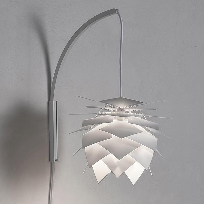 Nástěnná lampa PineApple InBetween, 25 cm, bílá