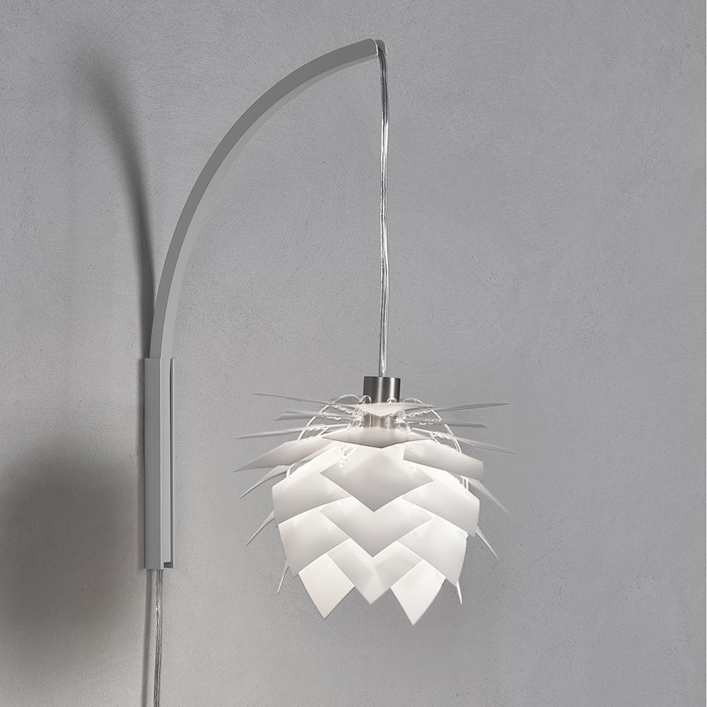 Nástěnná lampa PineApple XS, 22 cm, bílá