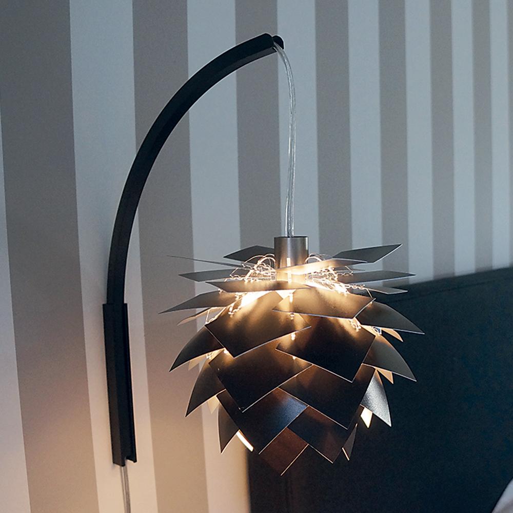 Nástěnná lampa PineApple XS, 22 cm, černá