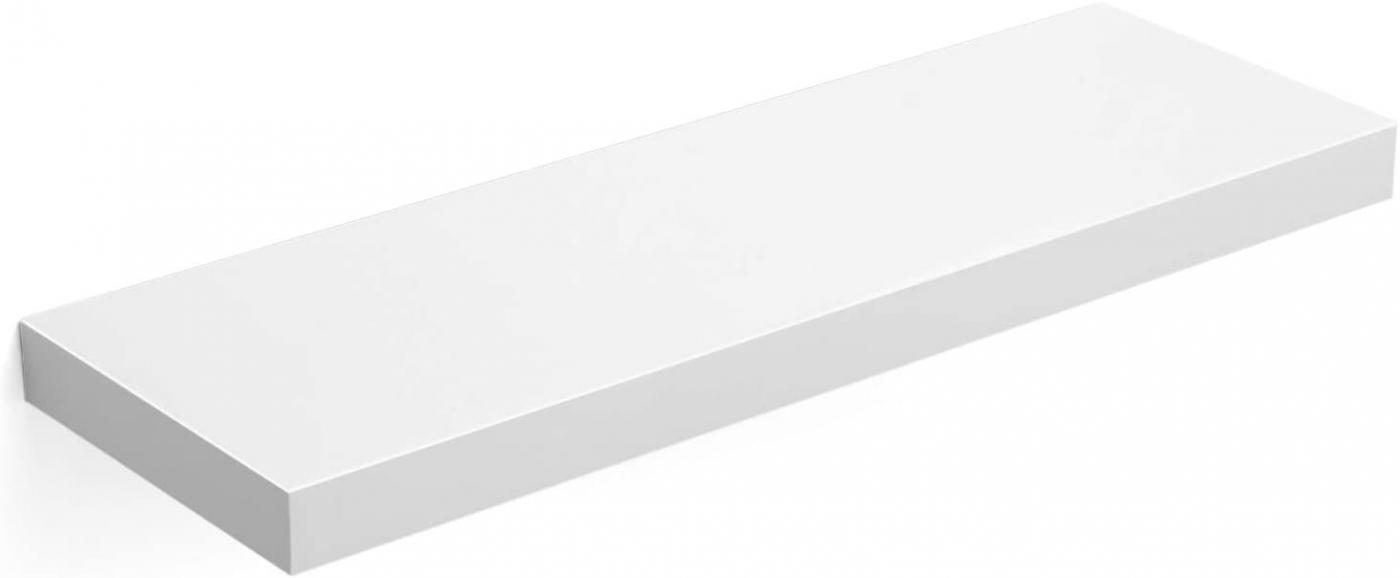 Nástěnná police Elen, 60 cm, bílá