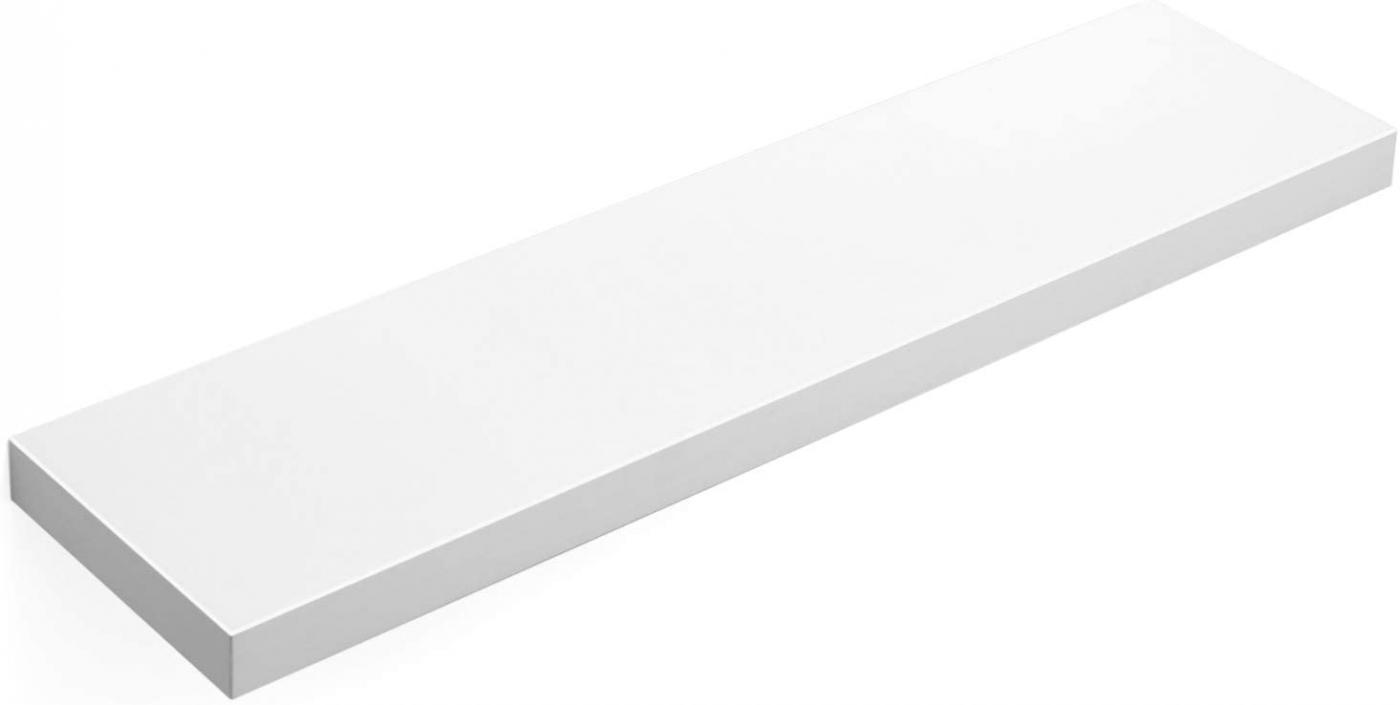 Nástěnná police Elen, 80 cm, bílá