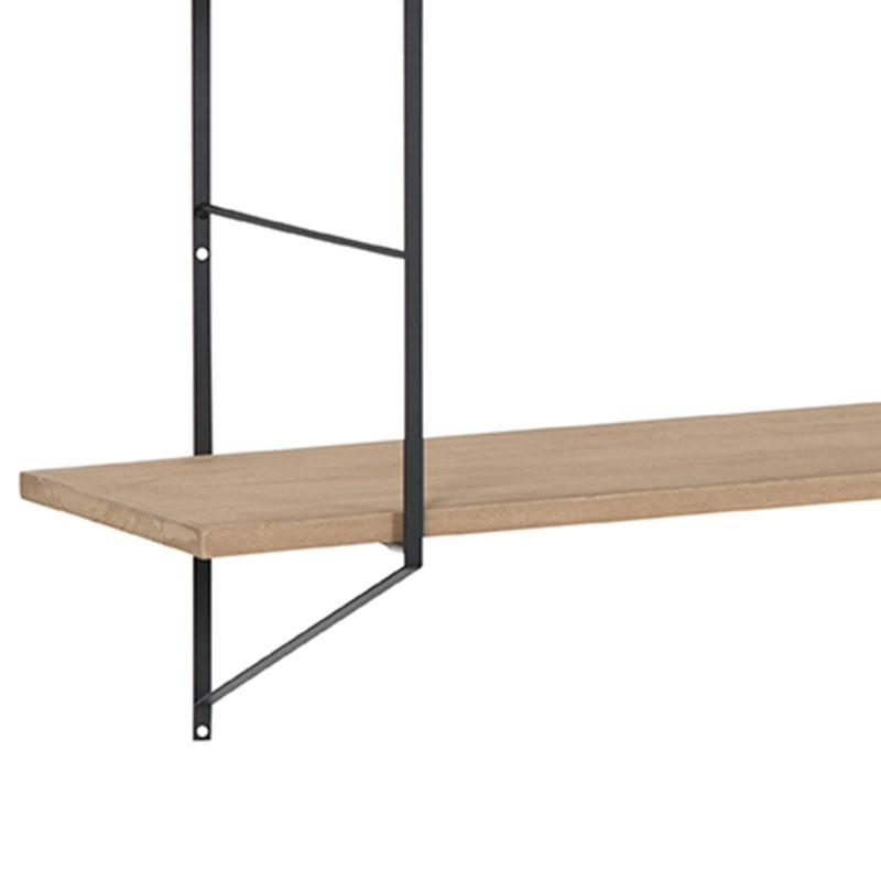 Nástěnná police Fantasy, 191 cm, dřevo/černá