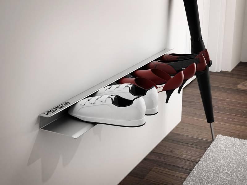 Nástěnná police na boty Sko, 85 cm, bílá