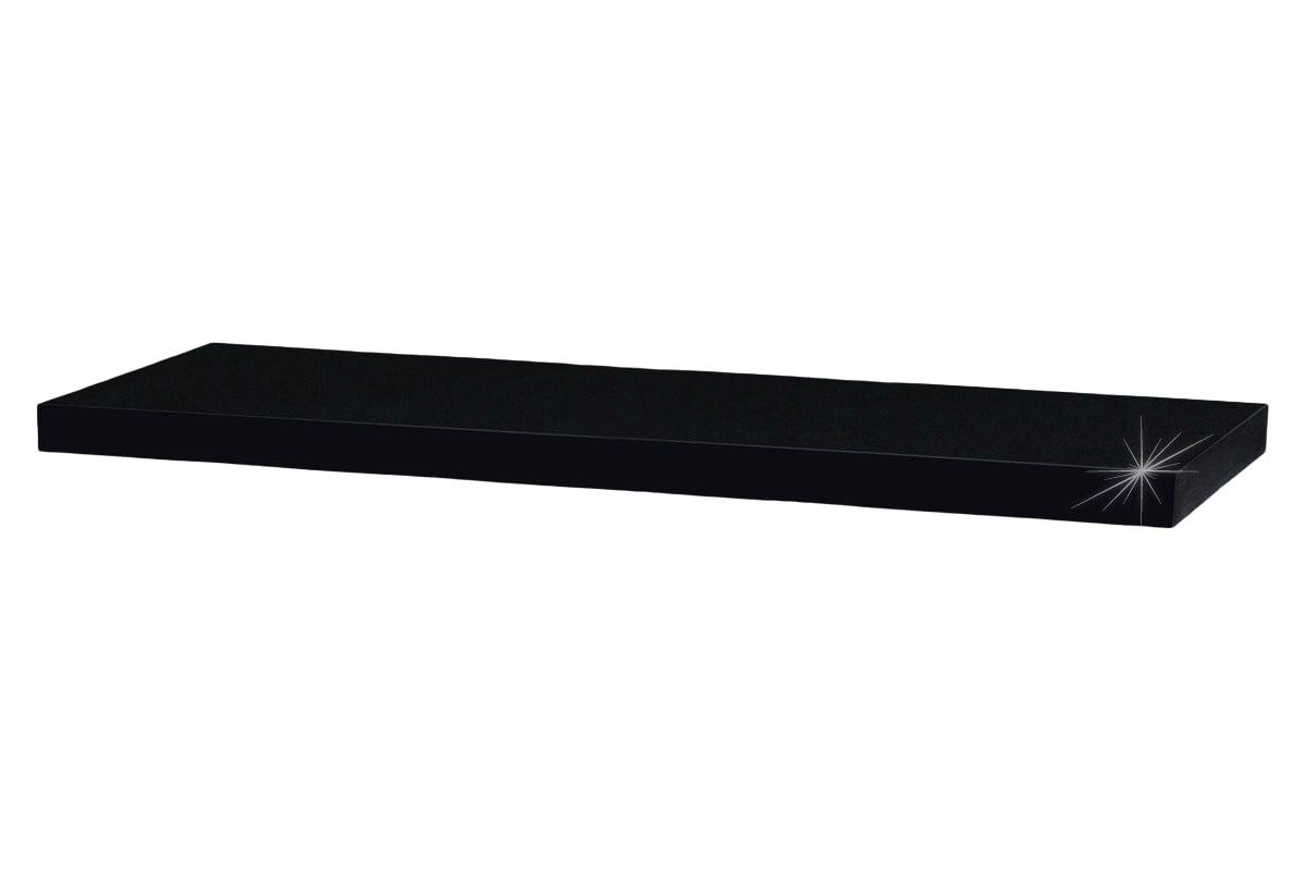 Nástěnná police Nicolas, 80 cm, černá