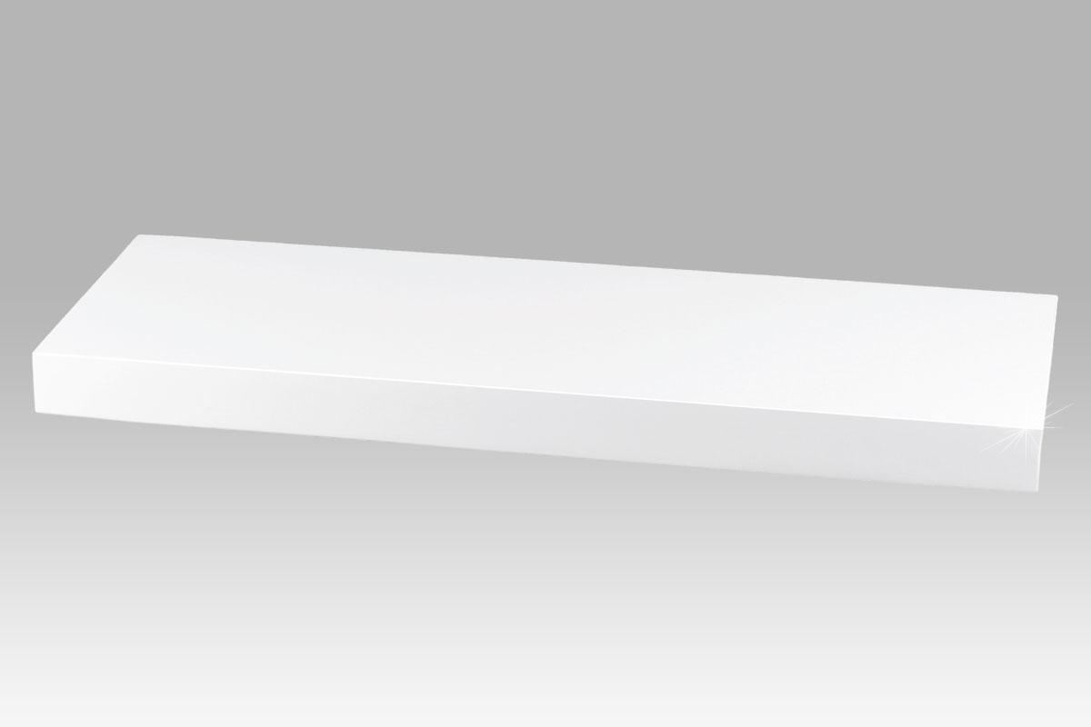 Nástěnná police Roger, 60 cm, bílá