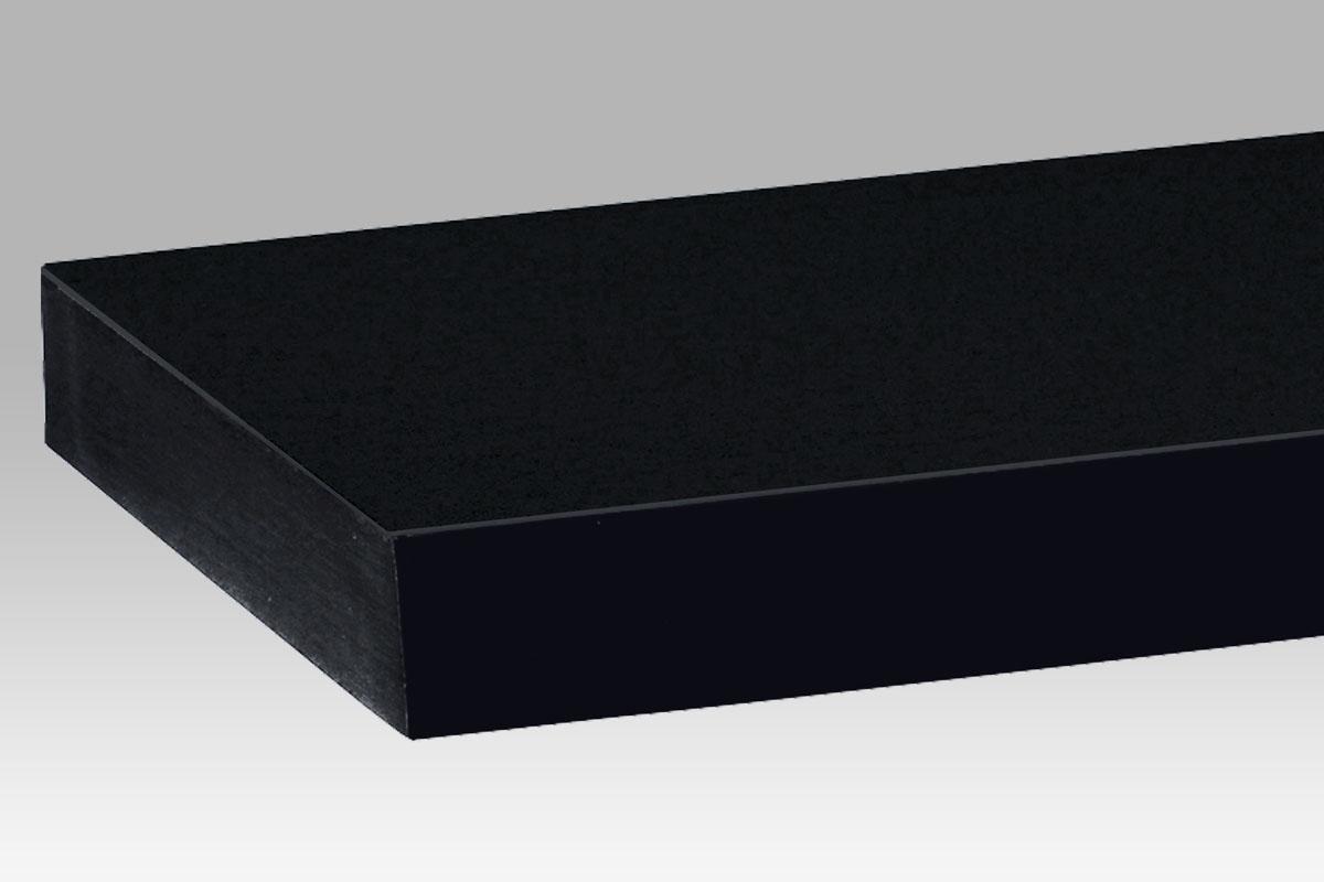 Nástěnná police Thomas, 120 cm, černá