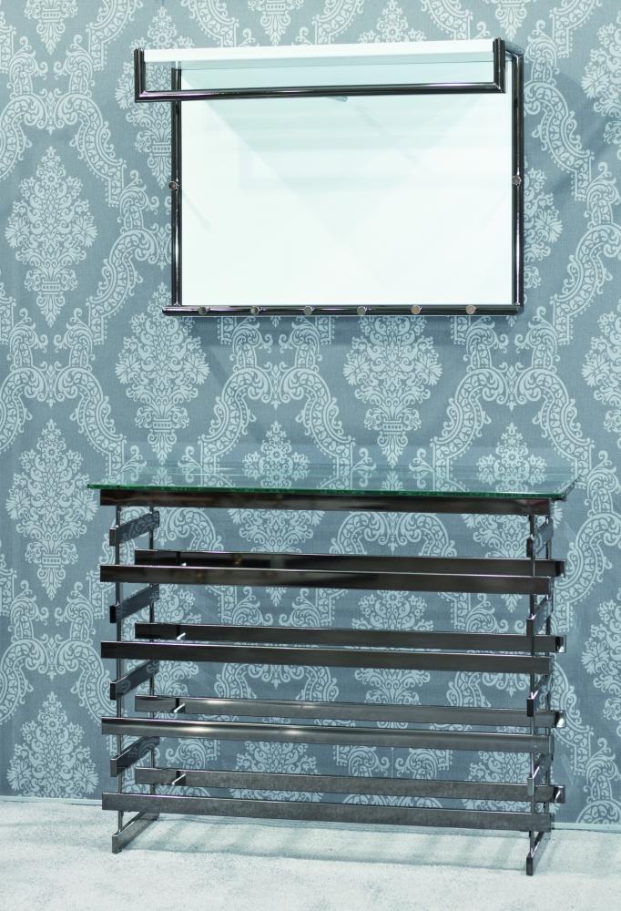 Nástěnná skříň Cony, 60 cm, bílá/chrom