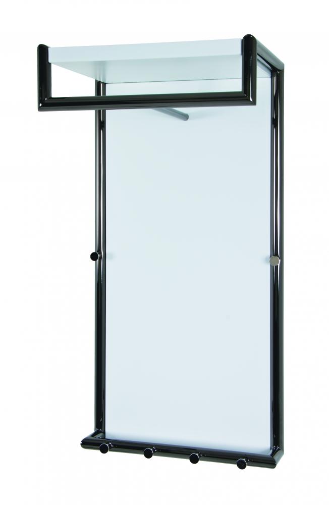 Nástěnná skříň Cora, 80 cm, bílá/chrom