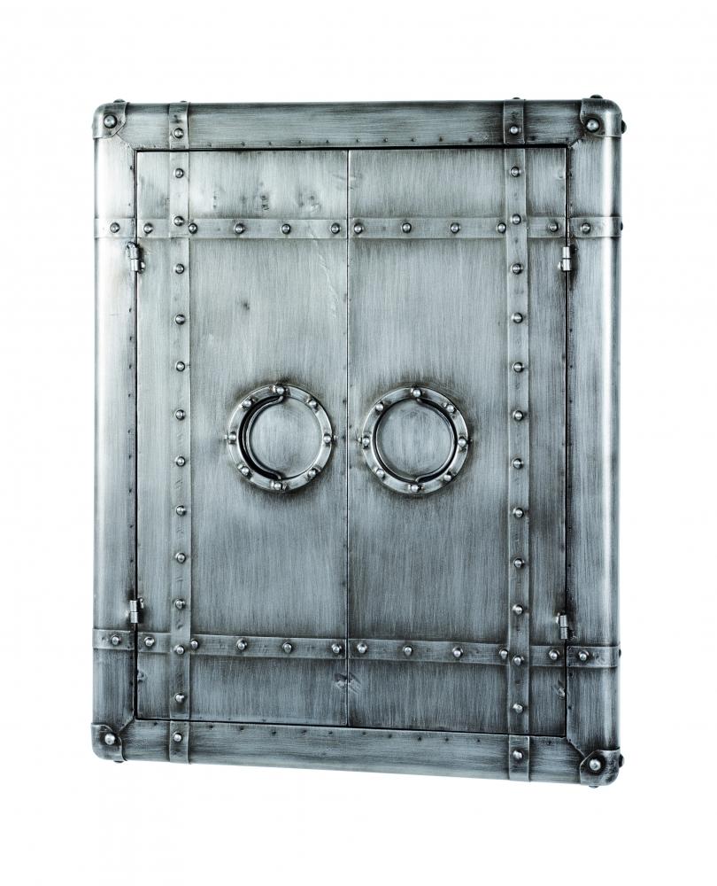Nástěnná skříňka se zrcadlem Trident, 71 cm, antracitová