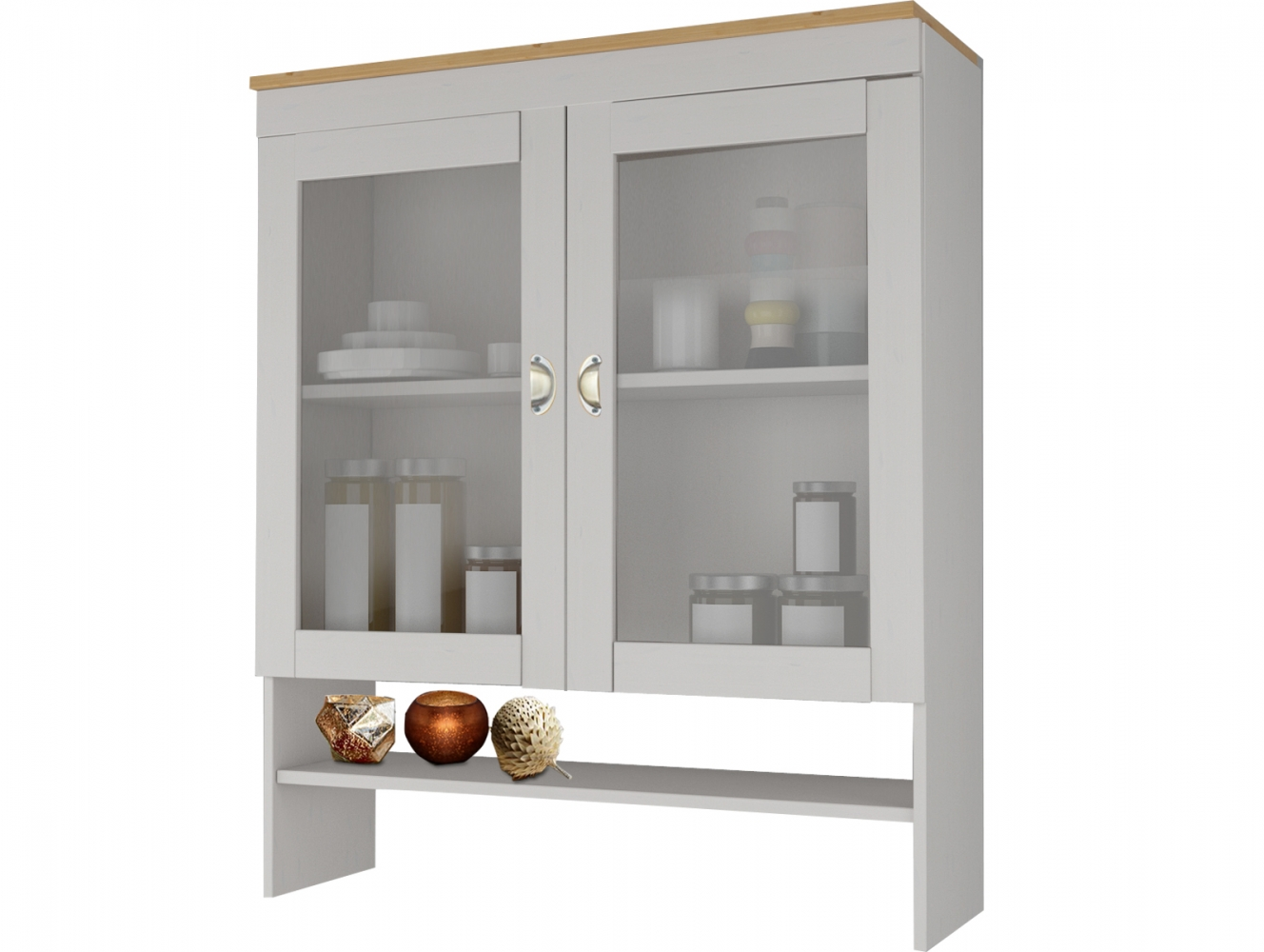 Nástěnná skříňka Tyle, 120 cm, borovice / bílá