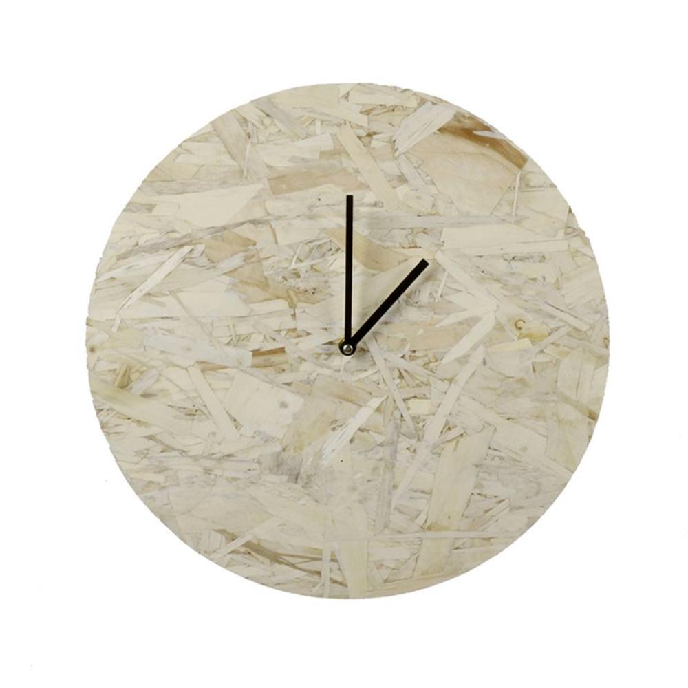 Nástěnné dřevotřískové hodiny Skiva, 40 cm