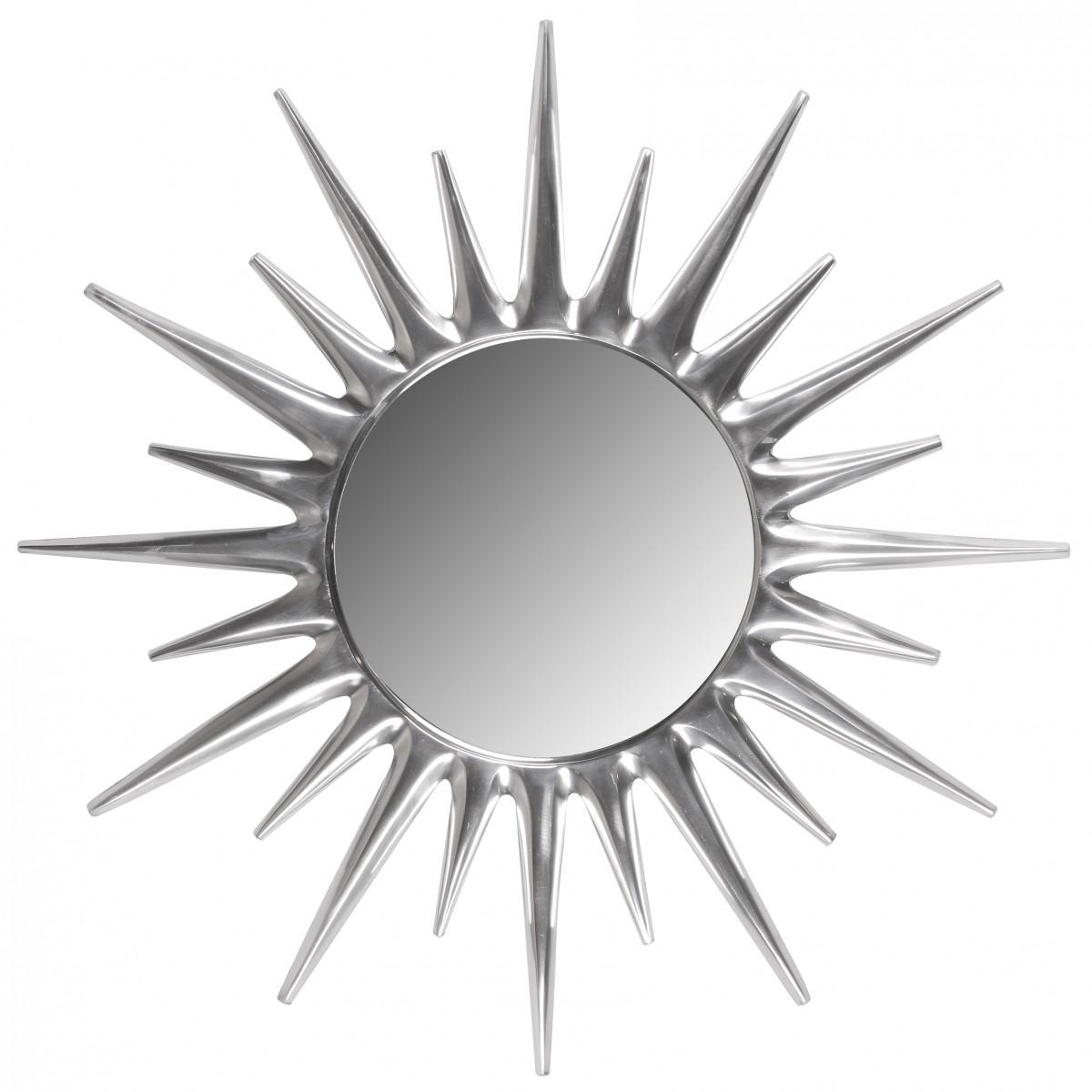 Nástěnné hliníkové zrcadlo Sunrise, 76 cm