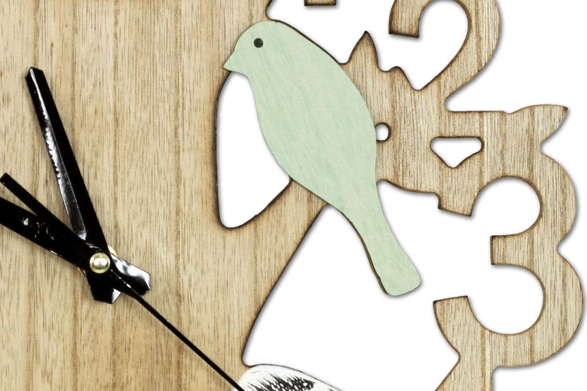 Nástěnné hodiny Birds, 34 cm