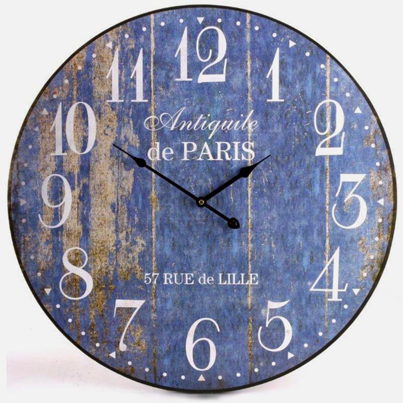 Nástenné hodiny De Paris, 60 cm , modrá