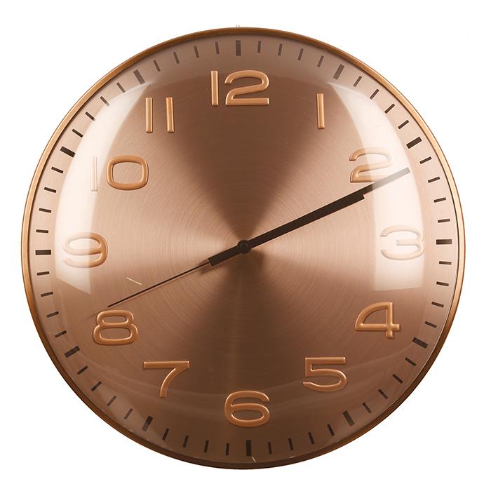 Nástěnné hodiny Fler, 40 cm, růžová zlatá