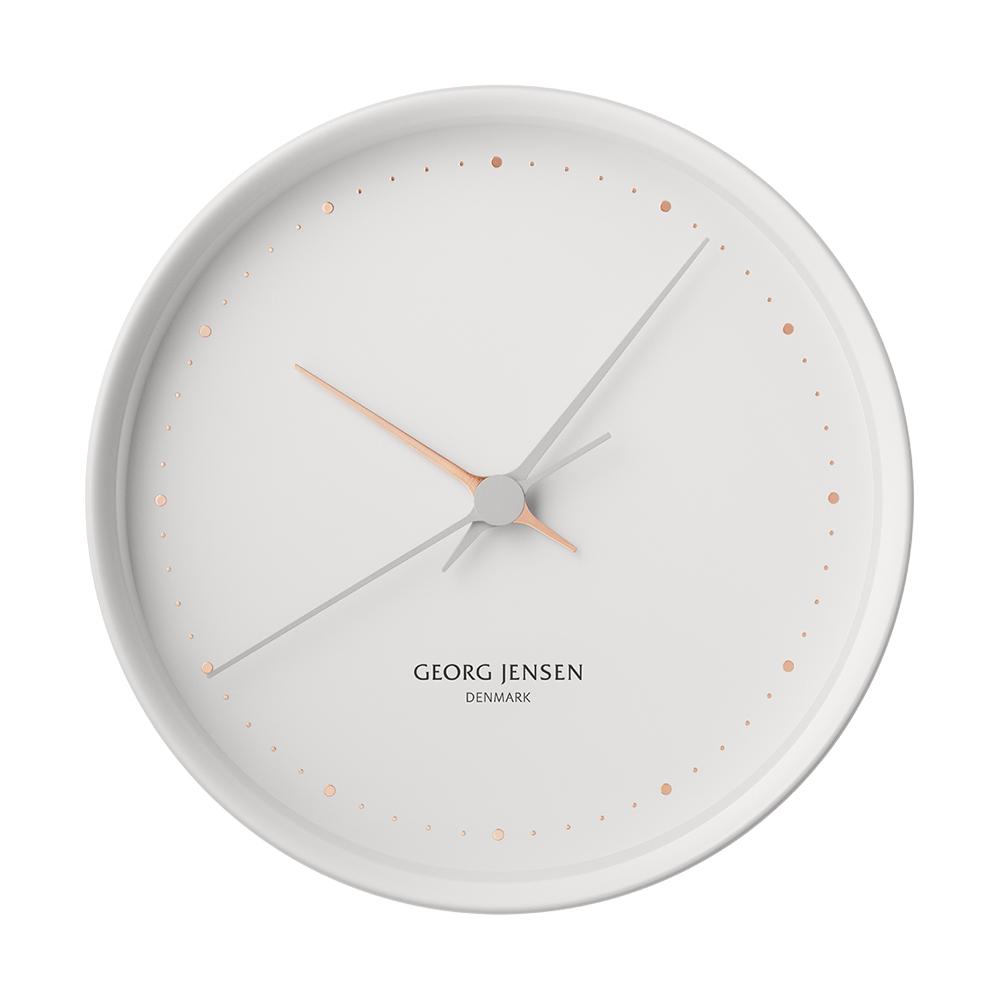 Nástěnné hodiny HK, bílé, 22 cm