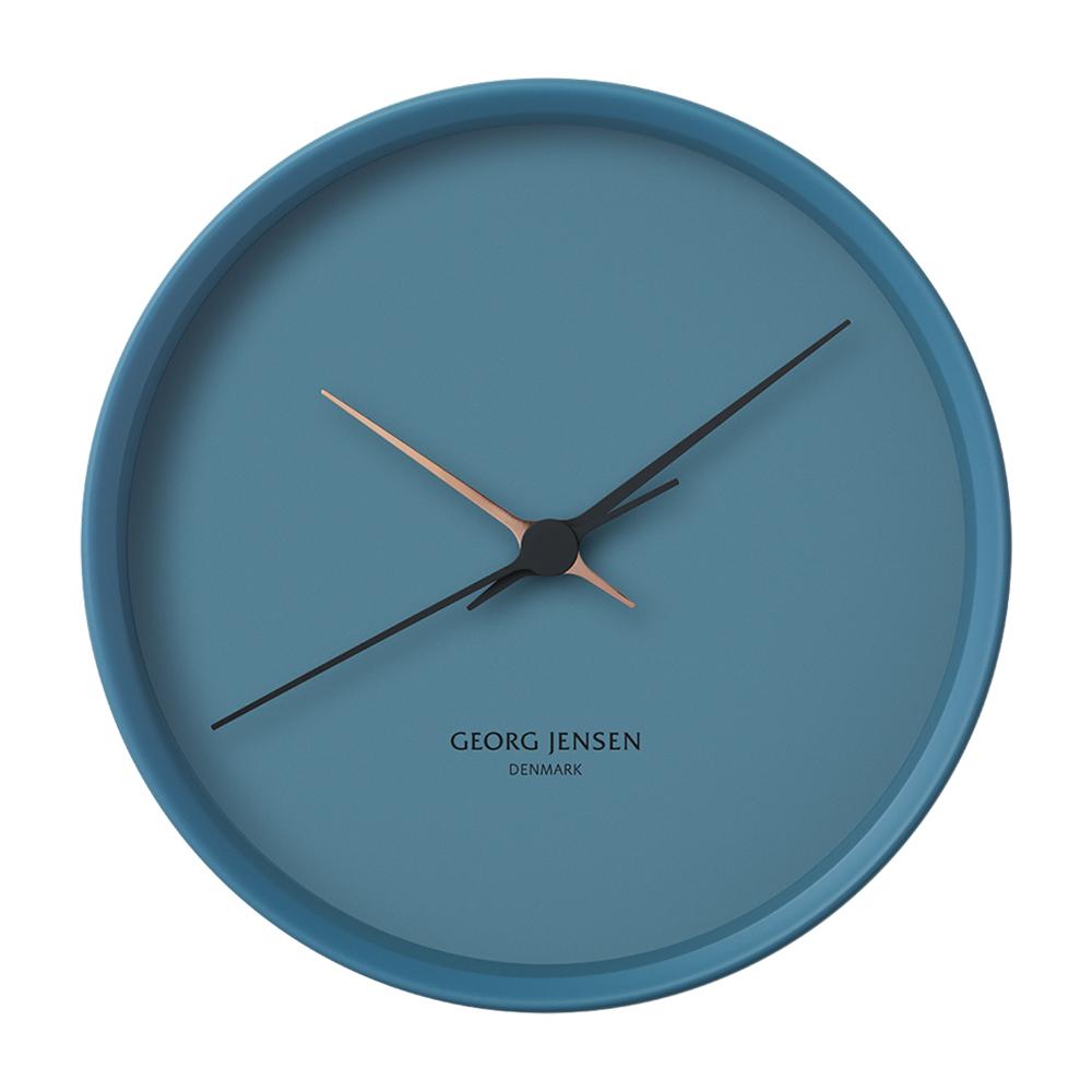 Nástěnné hodiny HK, modré, 22 cm