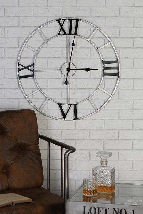 Nástěnné hodiny kovové Factory, 64 cm
