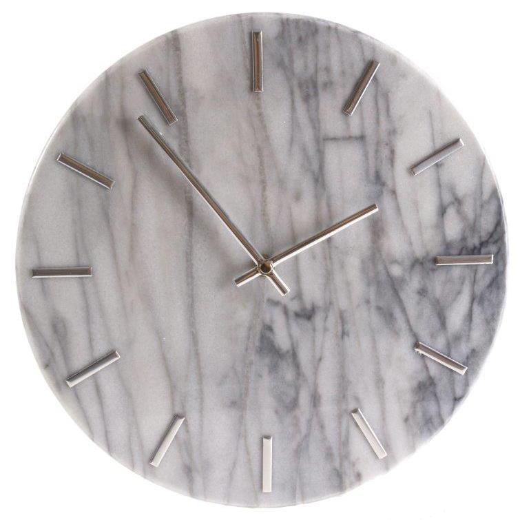 Nástěnné hodiny Mramor, 30 cm, bílá